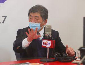 陳時中今(14)日接受《周玉蔻嗆新聞》廣播節目訪問。圖/中央社。