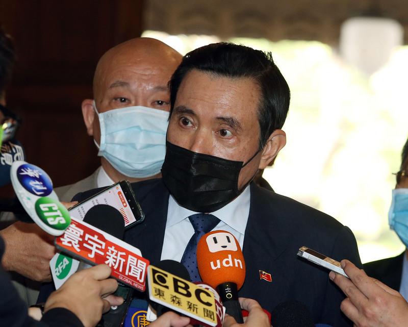馬英九昨(24)日表示為二二八平反30年。圖/中央社。