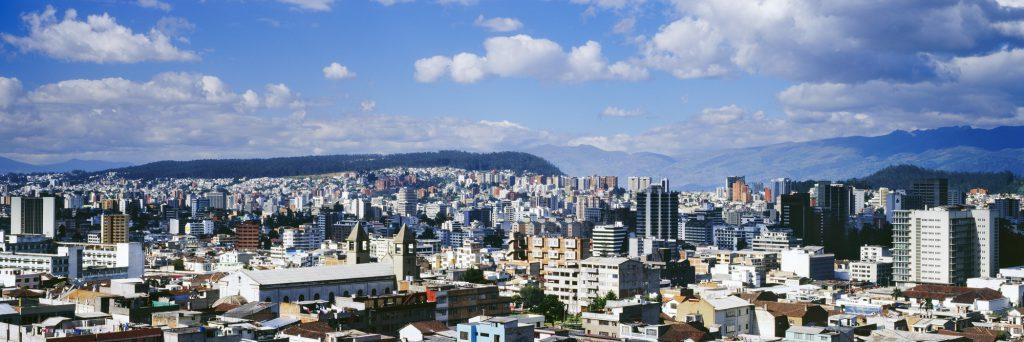 Panoramic cityscape, Quito, Ecuador