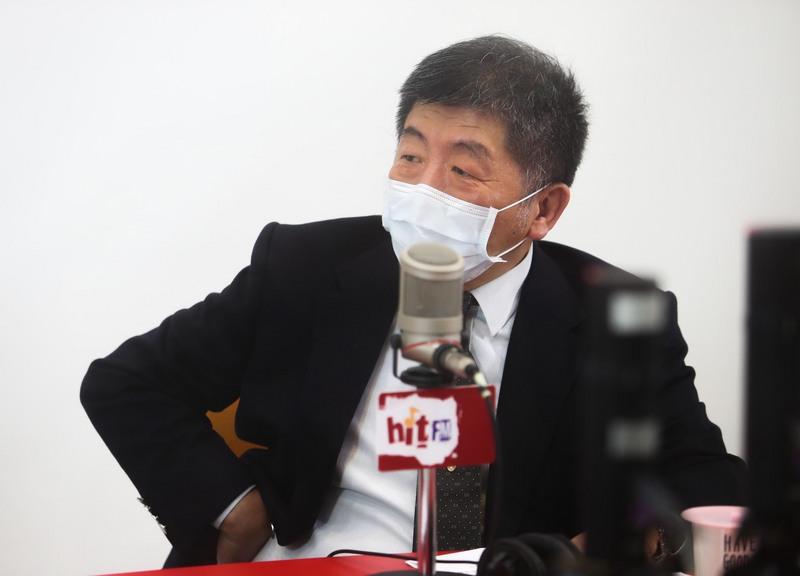 衛福部長陳時中昨(17)日受訪。圖/中央社。