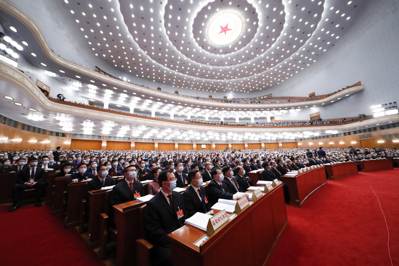 中國人大於今(11)日無異議通過修改香港選舉制度。圖/中央社。