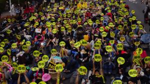 2014年南台灣廢核大遊行。(傅志男攝)