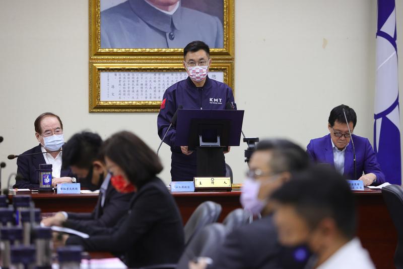 中國國民黨主席江啟臣。圖/中央社。