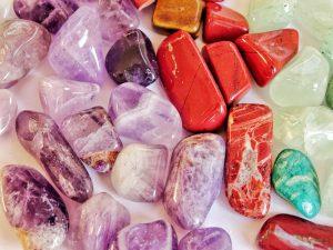 Multicolored gemstones