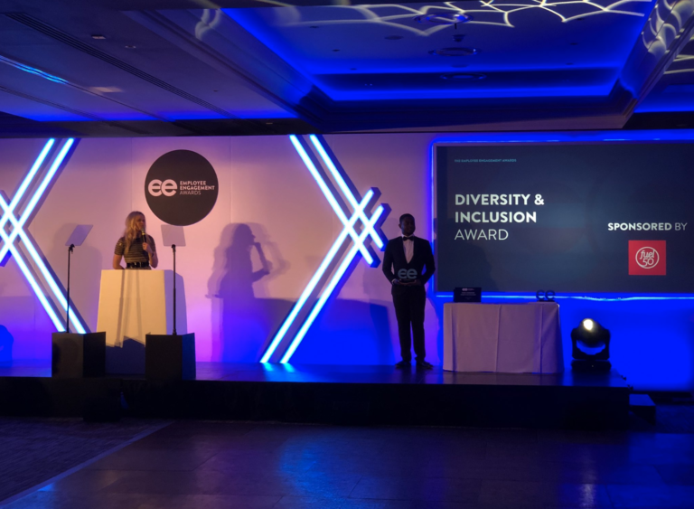 Beyond wins D&I award at the 2019 UK Employee Engagement awards