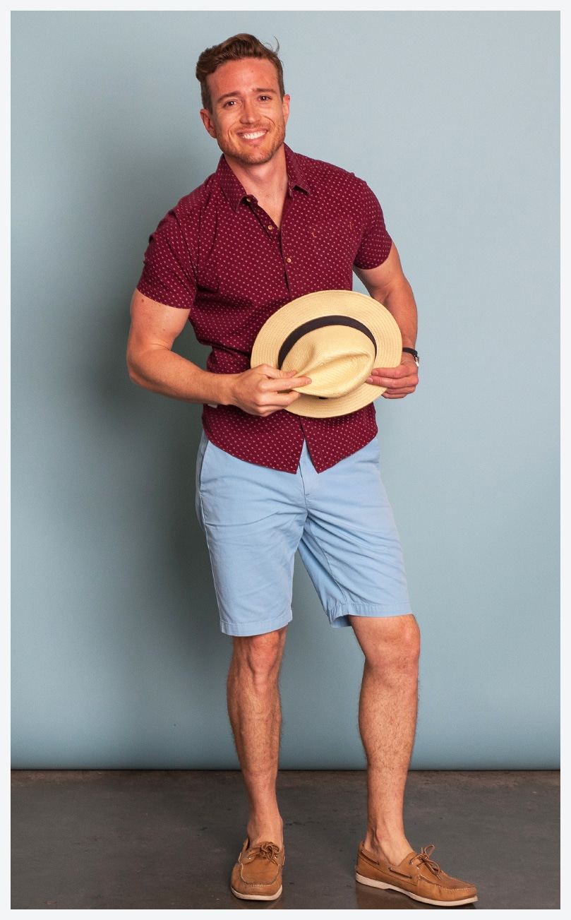 The Mr. Collection model in casual clothing