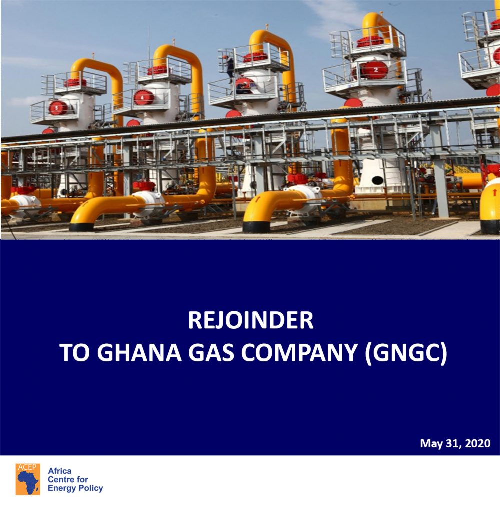 ACEP's Rejoinder to Ghana National Gas Company (GNGC)