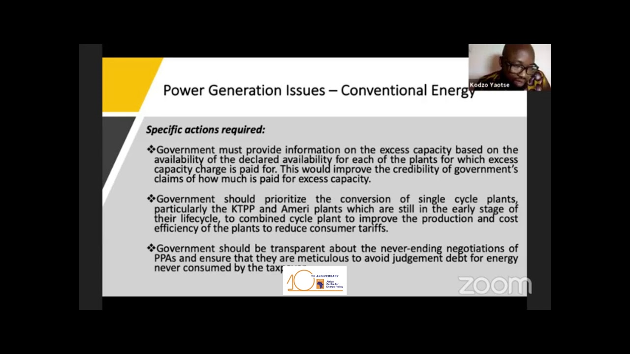 Virtual Press Briefing On Power Sector Priorities For Government's Action