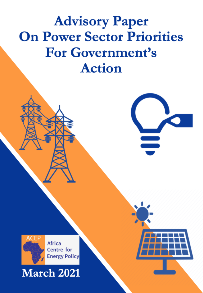 Advisory Paper On Power Sector Priorities For Government's Action