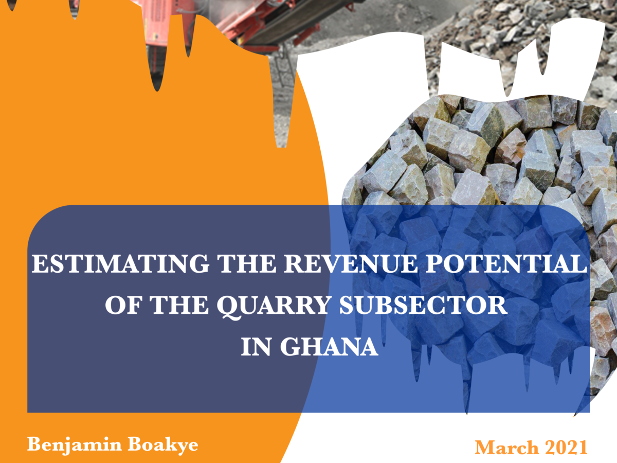 Estimating The Revenue Potential Of The Quarry Subsector In Ghana – ACEP Publication