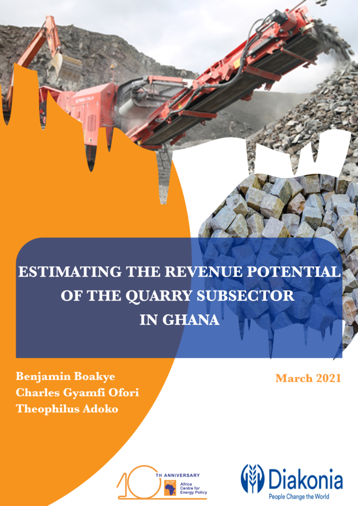 Estimating The Revenue Potential Of The Quarry Subsector In Ghana