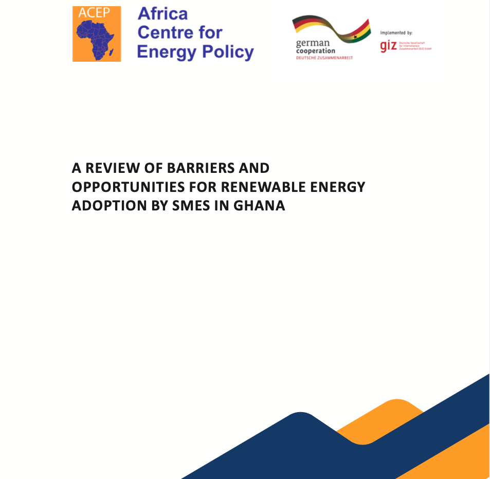 A Review Of Barriers And Opportunities For Renewable Energy Adoption By SMEs In Ghana