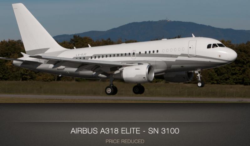 Airbus 318 Elite for sale