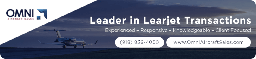 OmniJet Leaders in Learcraft and aircraft sales banner