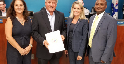 Banyan's CEO, Don Campion receives a City of Fort Lauderdale Proclamation recognizing