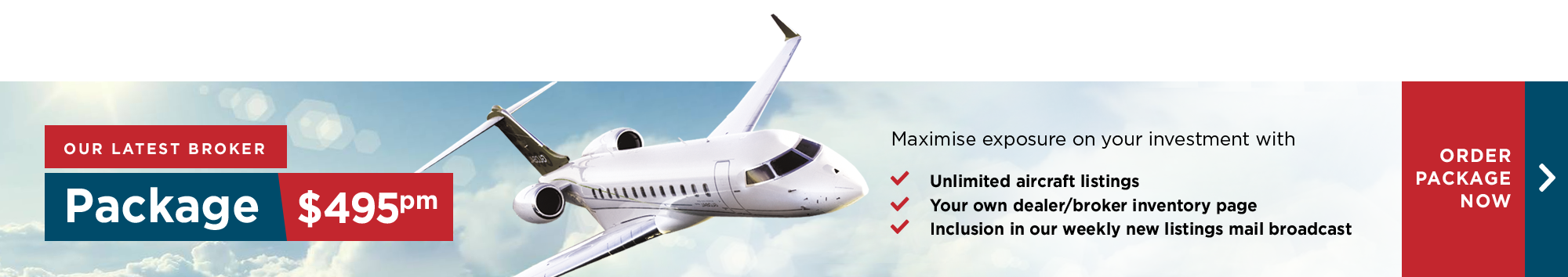 Advertise your aircraft for sale