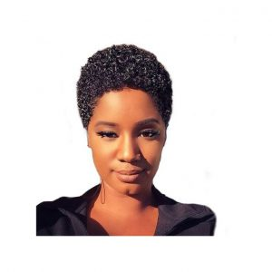 This is an image for this product - Popfeel Women Short Black Front Curly Hairstyle Synthetic Hair Wigs For Black Women-Black - Jumia Kenya. This product is available for purchase from Jumia Kenya and is sold by Neworldline.