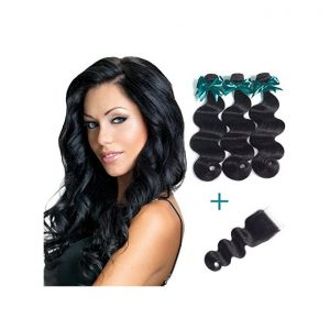 This is an image for this product - Generic Brazilian Body Wave Virgin Hair 3 Bundles With Free Part Lace Closure ( 28 28 28 + 12 in Closure ) - Jumia Kenya. This product is available for purchase from Jumia Kenya and is sold by SHW.