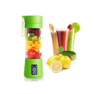 This is an image for this product - Generic Rechargeable Portable Blender Juicer Cup / Electric Fruit Mixer / USB Juice Blender, Rechargeable,Blades In 3D For Superb Mixing, 380ml-Green - Jumia Kenya. This product is available for purchase from Jumia Kenya and is sold by Wise Solutions.