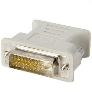This is an image for this product - Rohs DVI-D (male) to VGA (female) 24+1M Connector  - White - Jumia Kenya. This product is available for purchase from Jumia Kenya and is sold by Laptop Clinic.