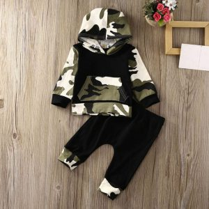 This is an image for this product - Generic 2Pcs Toddler Infant Baby Boy Clothes Set Camouflage Hooded Tops+Pants Outfits - Jumia Kenya. This product is available for purchase from Jumia Kenya and is sold by Byfun.