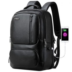 This is an image for this product - Generic Bopai 851-023911 Top-grain Leather Business Breathable Anti-theft Man Backpack, Size: 28x18x42cm(Black) - Jumia Kenya. This product is available for purchase from Jumia Kenya and is sold by WTYD.