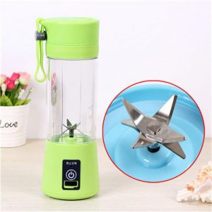 This is an image for this product - Generic Hand Portable Blender Mixer USB Charging Mode Small Mini Juicer Extractor Household Whisk Fruits Juicehine Smoothie Maker(Six Blades Green) - Jumia Kenya. This product is available for purchase from Jumia Kenya and is sold by WangQ Shop.