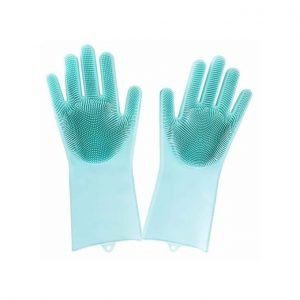 This is an image for this product - Generic  Silicone Scrubber Cleaning Dish Washing Gloves(Green) - Jumia Kenya. This product is available for purchase from Jumia Kenya and is sold by Magic Closet.