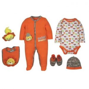 This is an image for this product - Tedmimak 6 Piece Baby Romper, Bodysuit, Bib, Booties, Hat and Toy - Orange - Jumia Kenya. This product is available for purchase from Jumia Kenya and is sold by BEAR & CUBS HAVEN.