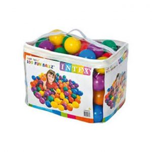 This is an image for this product - Intex Intex plastic multicolored 100 pieces small fun balls - Jumia Kenya. This product is available for purchase from Jumia Kenya and is sold by Adenzo Comfies.