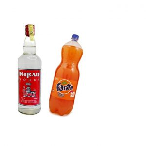 This is an image for this product - Kibao Combo Deal, Vodka 750ml with 2 Litres of Fanta Orange - Jumia Kenya. This product is available for purchase from Jumia Kenya and is sold by Tanne's Tavern Restaurant and Bar.