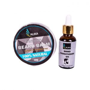 This is an image for this product - Alika Naturals 2 in 1 Beard Grooming Kit. Beard balm 60g+ scented beard oil 30ml - Jumia Kenya. This product is available for purchase from Jumia Kenya and is sold by Alika Naturals.