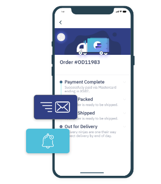 track order updates on WooCommerce app