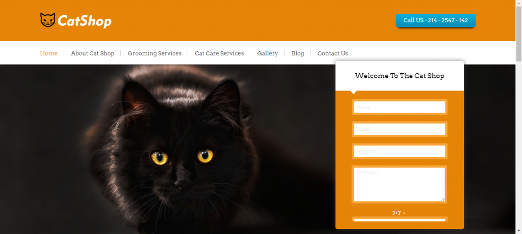Pet Shop WordPress theme provided by catshop