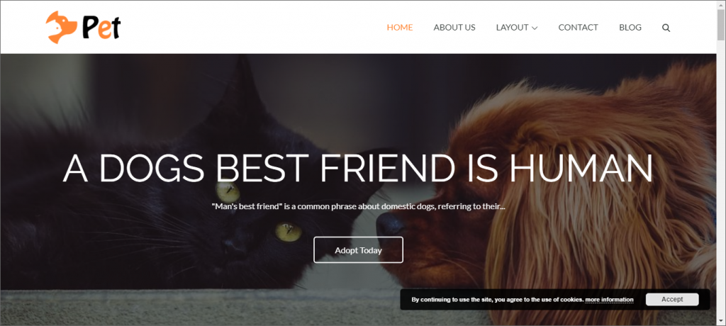Pet Shop WordPress themes provided by pet business