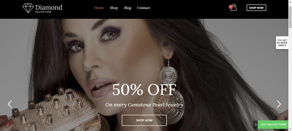 WordPress eCommerce theme for jewelry provided by kallyas