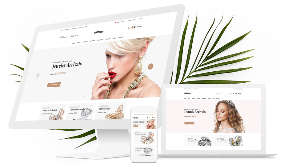 Jewelry eCommerce WordPress themes