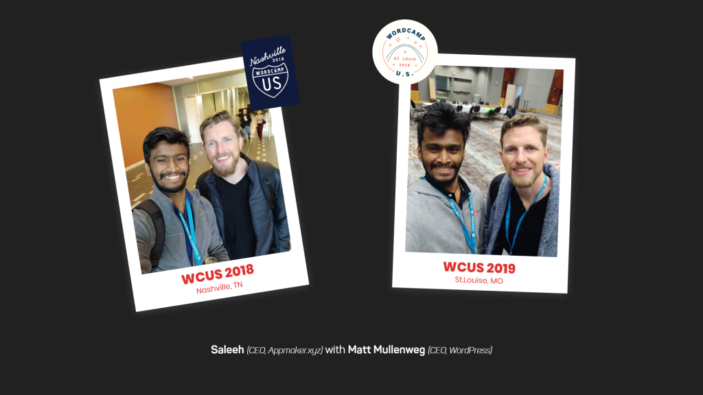 Appmaker & WordPress CEO's at different WordCamps