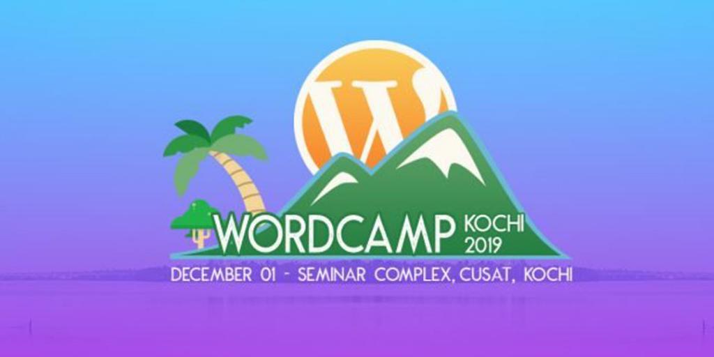 Banner image of upcoming WordCamp in Kochi, Kerala in December
