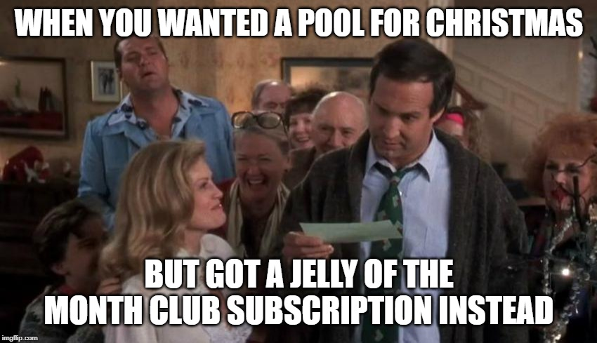 National Lampoon Christmas Vacation Clark Griswold pool meme
