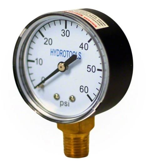 Hydrotools By Swimline Pressure Gauge 0-60 PSI. Side