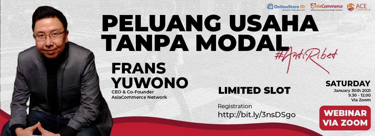 Peluang Usaha Tanpa Modal Poster Webinar