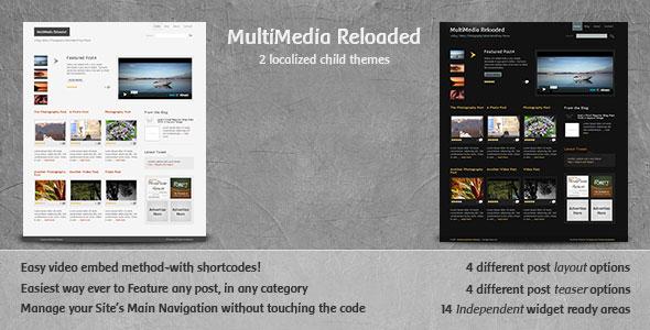 Multimedia Reloaded: Best WordPress Video/Photo Theme 3