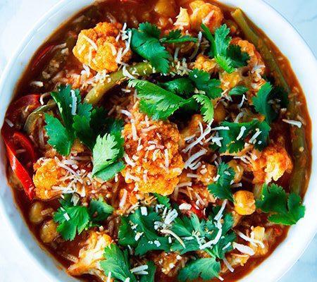 Curry Salmón Y Garbanzo