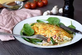 Omelette con costra de queso