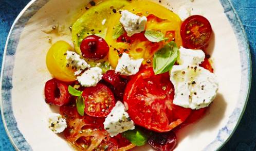 Tomates con queso de cabra(v)(f)