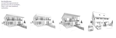 versch. Dachformen möglich