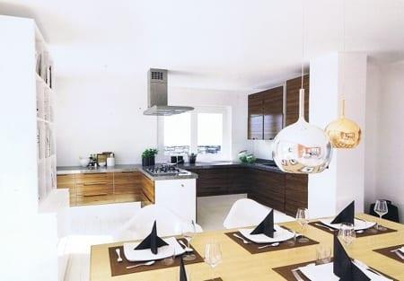 Blick in offene Küche