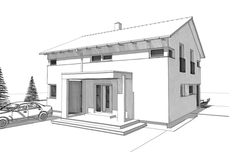 Eingang mit Vordach