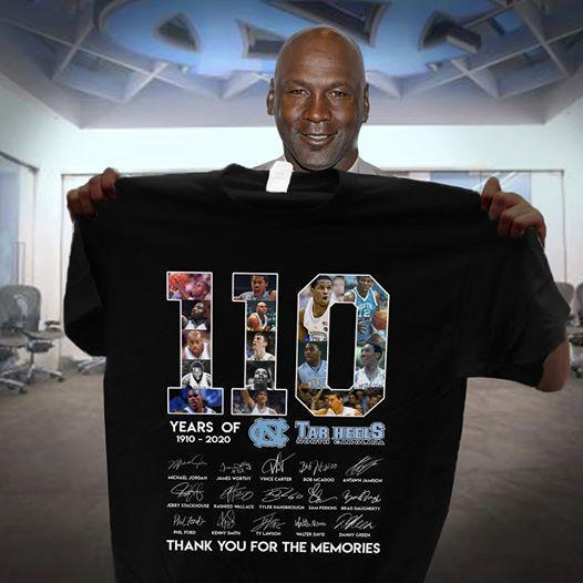 110 Years Of North Carolina Tar Heels 1910 2020 Players Signatures Thank You For Memories - Gift for Fans T-Shirt